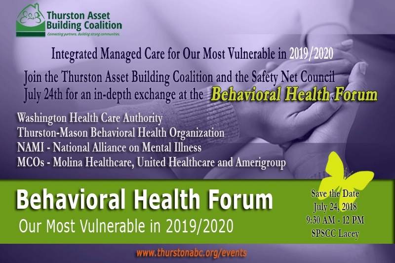 Behavioral Health Forum Our Most Vulnerable In 2019 2020 Thurston